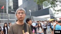 香港中文大學政治與行政學系副教授馬嶽。(美國之音特約記者湯惠芸照)