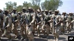 말리에 파병되는 나이지리아 군인들의 모습 (자료사진)