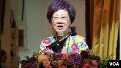 台湾前副总统吕秀莲(美国之音杨明拍摄)