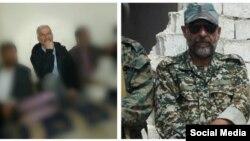 عکس منتسب به فرشاد حسونیزاده(سمت راست) و حمید مختاربند