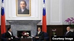 台湾总统府悬挂着孙中山像(来源:台湾总统府)