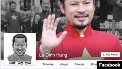 Ảnh chụp màn hình từ trang facebook của ông Lê Đình Hùng (Hùng Cửu Long)