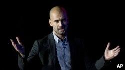 Mantan pelatih klub Barcelona Pep Guardiola menandatangani kontrak sebagai pelatih baru klub Bayern Munich sampai akhir musim pertandingan tahun 2015-16 (foto: dok).