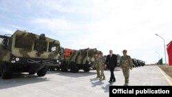 Azərbaycan prezidenti İlham Əliyev Raket Qoşunlarının yeni hərbi hissəsinin açılışında iştirak edib