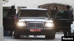 29일 러시아를 방문한 최선희 북한 외무성 북미국장이 외무부 건물에서 러시아 측과의 회담을 마친 후 차에 오르고 있다.