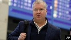 Đặc phái viên Mỹ Stephen Biegun đến sân bay Incheon, Hàn Quốc, hôm 3/2/2019
