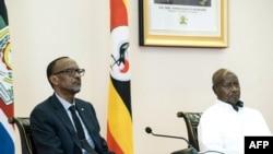 Perezida w'u Rwanda Paul n'uwa Uganda Yoweri Museveni