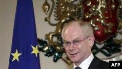 Председатель Совета Европы Герман ван Ромпей. София. Болгария. 23 февраля 2011 года