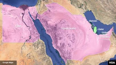 Carte Qatar Arabie Saoudite.L Egypte Donne 48 Heures A L Ambassadeur Du Qatar Pour