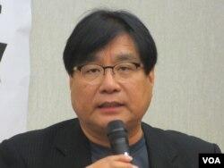 台湾关怀中国人权联盟理事长杨宪宏(美国之音张永泰拍摄)
