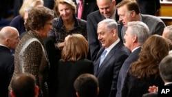 Премьер-министр Израиля Биньямин Нетаньяху перед выступлением в Конгрессе
