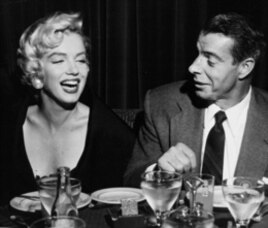 Marilyn Monroe and baseball great Joe DiMaggio; they were married for 10 months in 1954 and then divorced