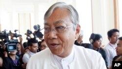Ông Htin Kyaw thuộc Đảng Liên minh Dân chủ Toàn quốc.