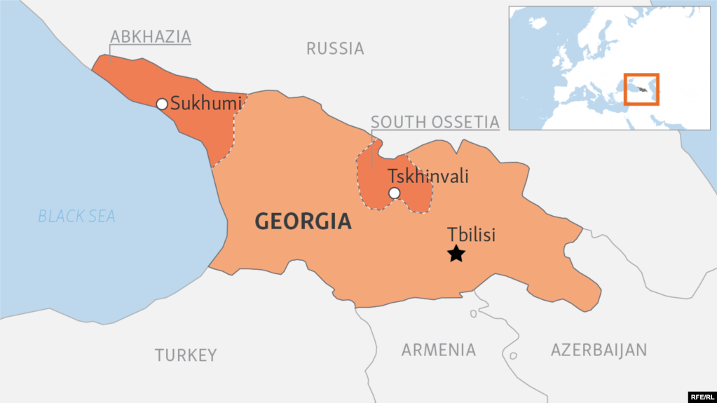 Us condemns syria for recognizing georgias breakaway regions map of georgia showing the breakaway regions of ossetia and abkhazia gumiabroncs Choice Image