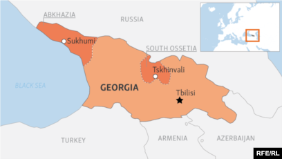 Map Of Russia And Georgia.Us Condemns Syria For Recognizing Georgia S Breakaway Regions