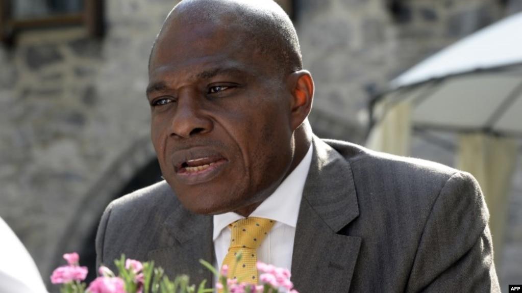 Le candidat Martin Fayulu à Genval, en Belgique, le 10 juin 2016.