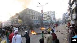 3일 방글라데시 북부지역 시위 현장