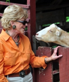 Jo Luck leads Heifer International, which helps people out of poverty and hunger with gifts of livestock.