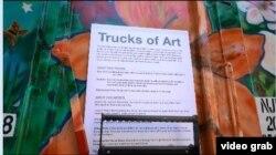 """""""Truck of Art"""" menjadi wadah seni para seniman lokal New York (Videograb)"""