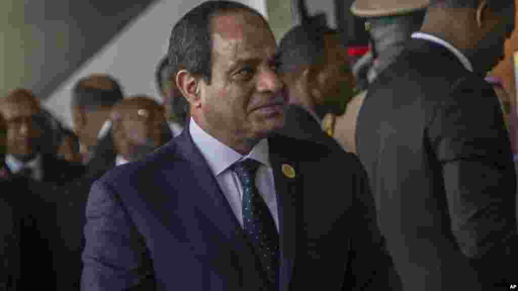 Le Président égyptien Abdel Fattah al-Sisi assiste à la cérémonie d'ouverture de la 28ème session ordinaire de l'Union africaine, à Addis-Abeba, Ethiopie, le 30 janvier 2017.