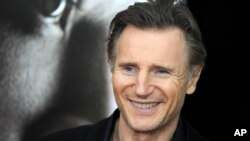 """Liam Neeson protagoniza """"Cold Pursuit"""", su más reciente película. En la gráfica, el actor durante la premiere de la cinta """"Concussion"""". Nueva York, Nueva York, 12/16/15."""