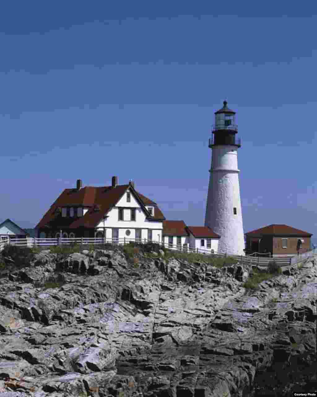 El faro de Portland Head ubicado en Portland en el estado de Maine, en el nororiente de Estados Unidos. (Foto: Carol M. Highsmith)