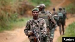 Des militaires de l'armée congolaise à Beni, dans le Nord-Kivu, 31 décembre 2013.