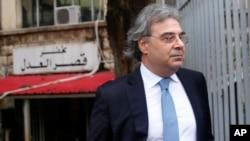 Carlos Abou Jaoude, Pengacara Carlos Ghosn, mantan CEO Nissan yang kini menjadi buronan Interpol, di Beirut, Lebanon, 9 Januari 2020.