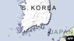 Bản đồ phía Nam Hàn Quốc.