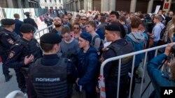 Las protestas fueron convocadas por Rusia Abierta, una organización fundada por el magnate petrolero Mijail Jodorkovsky.