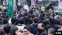تجمع اعتراضی پرستاران ایران در مقابل مجلس