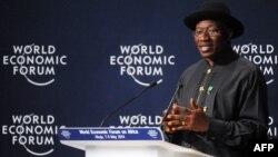 Shugaba Goodluck Jonathan a Abuja, Mayu 8, 2014