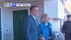 Republican challenger Mitt Romney waited until Election Day