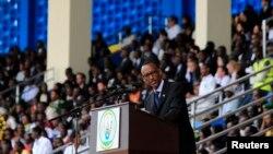 Prezida Kagame mu gihe cyo Kwibuka Jenoside