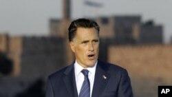ຜູ້ສະໝັກເລືອກຕັ້ງປະທານາທິບໍດີສະຫະລັດສັງກັດພັກ Republican ທ່ານ Romney ກ່າວຄໍາປາໃສທີ່ກຸງ Jerusalem ໃນວັນທີ 29 ກໍລະກົດ, 2012.