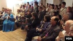 今年5月莫斯科古拉格博物館有關佛教在蘇聯受迫害的討論會,有圖瓦宗教人士出席 (美國之音白樺 拍攝)