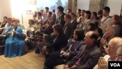 今年5月莫斯科古拉格博物馆有关佛教在苏联受迫害的讨论会,有图瓦宗教人士出席 (美国之音白桦 拍摄)