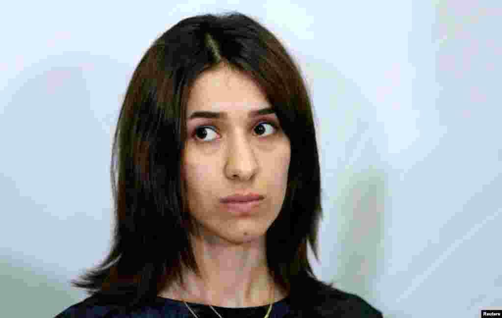 نادیه مراد ۲۵ ساله، از ایزدیهای شهر سنجار در عراق بود که مورد آزار تندروان داعش پس از حمله به آن شهر قرار گرفت. او بعد از رهایی، کارزاری را برای رساندن صدای زنان قربانی آزار داعش آغاز کرد و حتا در سازمان ملل سخنرانی کرد.