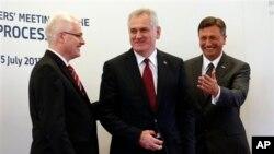 Predsednici Hrvatske, Srbije i Slovenije na regionalnom političkom samitu u Sloveniji, 25. jul 2013.