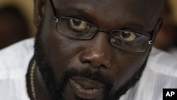 George Weah in Monrovia, Liberia, Nov. 5, 2011.