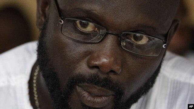 George Weah in Monrovia, Liberia, Nov. 5, 2011.