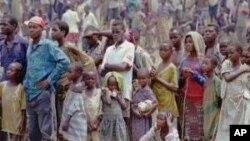 Des réfugies angolais