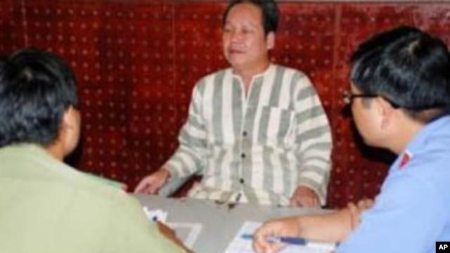 Ông Đinh Đăng Định, nguyên giáo viên môn hóa trường trung học phổ thông Lê Qúy Đôn ở tỉnh Đắc Nông, đang thọ án 6 năm tù
