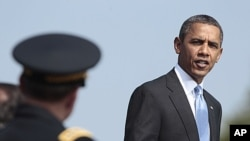 """美國總統奧巴馬星期五在華盛頓說﹐奧拉基的死是對基地組織的""""沉重打擊""""。"""