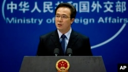 중국 외교부 훙레이 대변인. (자료사진)