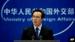 중국 외교부 훙레이 대변인 (자료사진)