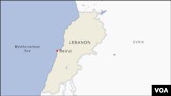 Letak kota Beirut di Lebanon. (Foto: peta)