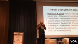 Dave McClure, the co founder of 500 Startups, an early stage investment firm, spoke about the immigration executive order on Saturday at the TechWadi Symposium, a gathering of entrepreneurs and investors focused on the Middle East and North African region