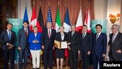 Các lãnh đạo G7 ra tuyên bố chung nhắc đến Biển Đông, Biển Hoa Đông, 27/5/2017