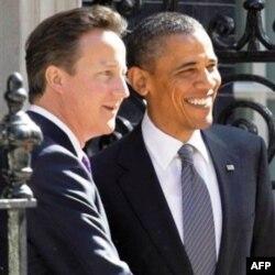 Prezident Obama Britaniya Bosh vaziri Deyvid Kameron bilan, 24 may 2011